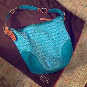 Vintage Coach hobo handbag